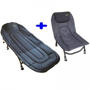 Bed Chair Deluxe + Master Carp Chair Black Line Edition